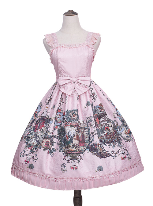 Strawberry Witch *The Fairytale Drama Of Chibor* Series Bowknot Sweet Lolita Sleeveless Dress