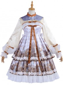 Cross Lily Series Chinese Style Classic Lolita Long Sleeve Dress