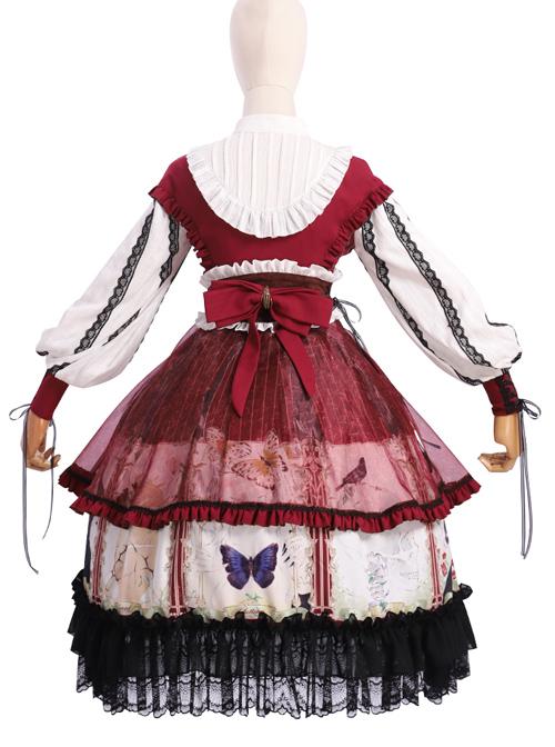 Dark Gold Hymn Series OP Gothic Lolita Long Sleeve Dress Set