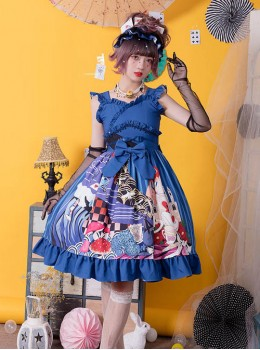 Magic Tea Party Breeze Alice Series JSK Bowknot Classic Lolita Sling Dress