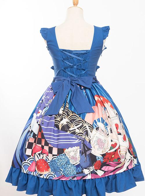 Magic Tea Party Breeze Alice Series JSK Bowknot Classic Lolita Sling Dress