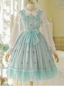 Flower Wall Series Chiffon Ruffle Sweet Lolita Sling Dress