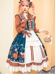 Distance Christmas Series JSK Sweet Lolita Sling Dress And Long Sleeve Shirt