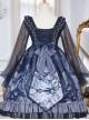 Unicorn Series OP Chiffon Retro Gothic Long Sleeve Dress