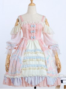 The Dreamland Series OP Pink Sweet Lolita Raglan Sleeve Dress