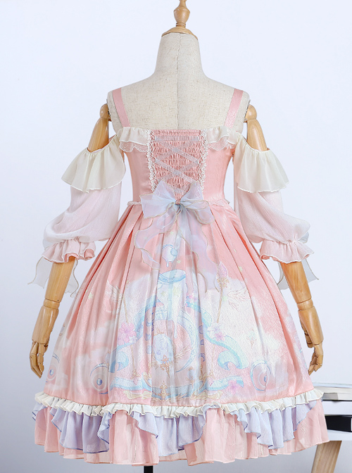 The Dreamland Series OP Pink Sweet Lolita Raglan Sleeve Dress