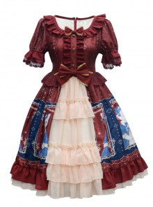 Earl Cat Lady Series OP Classic Lolita Short Sleeve Dress