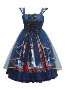 Earl Cat Lady Series JSK Bowknot Classic Lolita Sling Dress