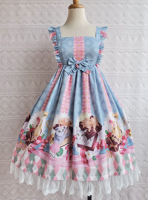 The Chocolate Cat Series JSK Sweet Lolita Sleeveless Dress