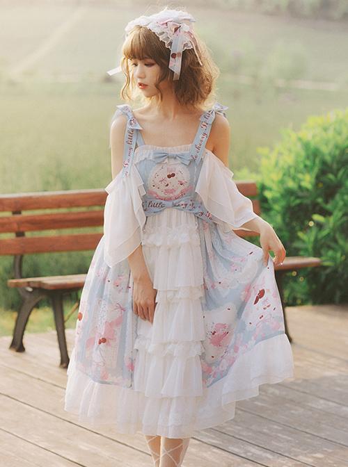Cherry Town Series JSK Cherry Printing Sweet Lolita Sling Dress