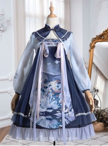 Unicorn Series High Waist Classic Lolita Dress