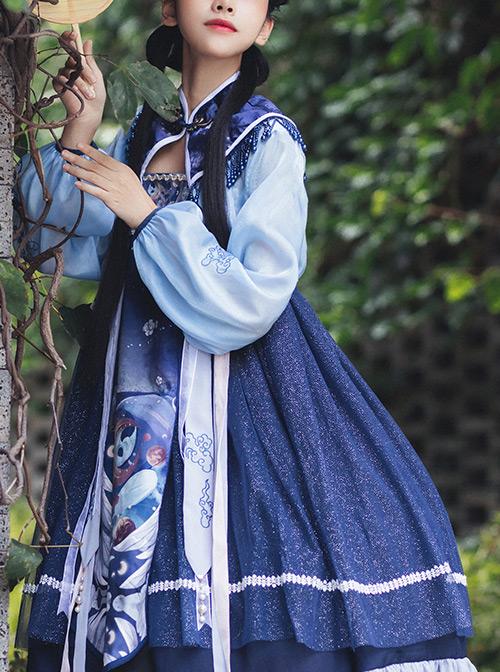 Unicorn Series High Waist Classic Lolita Dress
