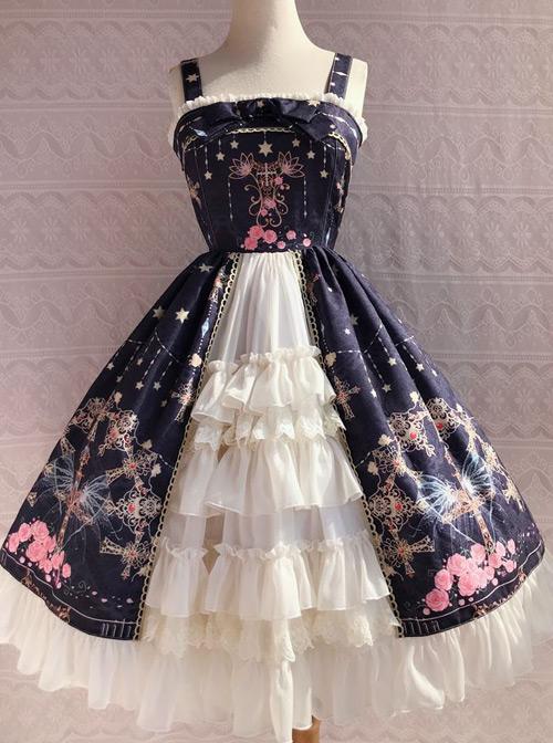 Peacock Cross Series JSK Classic Lolita Sling Dress