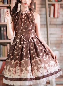 The Cookie Festival Series Little Bear Sweet Lolita Sleeveless Dress