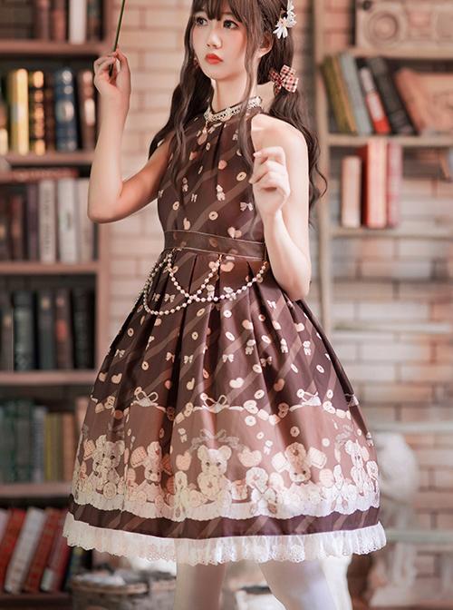 The Cookie Festival Series Little Bear Sweet Lolita Sleeveless Dress