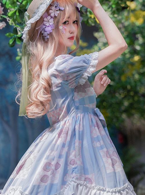 Summer Frost Wind Series OP Sweet Lolita Short Sleeve Dress