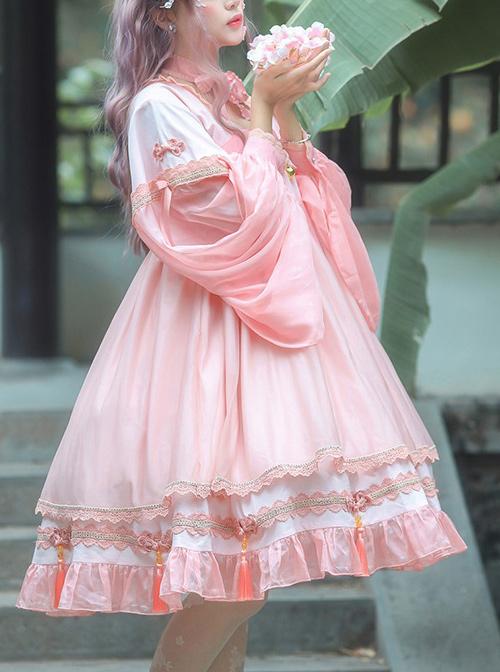 Koi Series OP Chinese Style Sweet Lolita Long Sleeve Dress