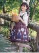 Poisonous Mushrooms Series JSK Denim Stitching Sweet Lolita Sling Dress