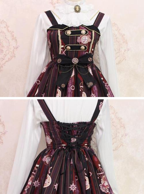 Steam Bear Series JSK Gear Bowknot Classic Lolita Sling Dress