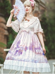 Oil Painting Series OP Elegant Classic Lolita Short Sleeve Dress