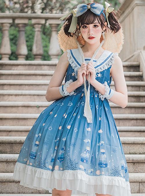Ocean Wishing Bottle Series JSK Sweet Lolita Sleeveless Dress