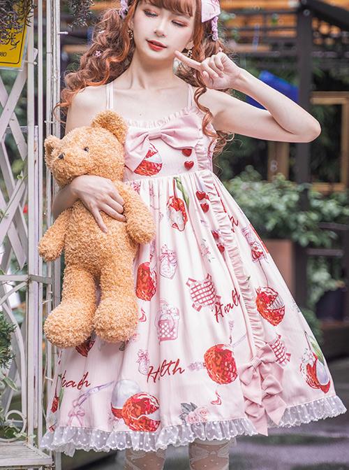 Lychee First Aid Kit Series JSK Sweet Lolita Pink Sling Dress