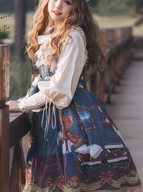 Detective Bear Series JSK Sweet Lolita Sling Dress