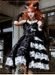 The Vampire Diaries Series JSK Type II Contrast Color Stitching Gothic Lolita Sling Dress