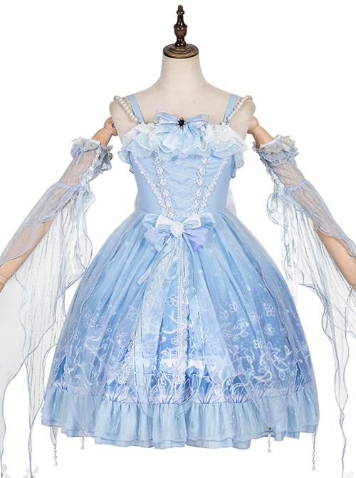 Deer In The Forest Series JSK Blue Gradient Sweet Lolita Sling Dress