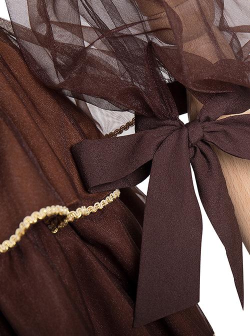 Pharmacist Series JSK Retro Pastoral Style Sweet Lolita Sling Dress Set