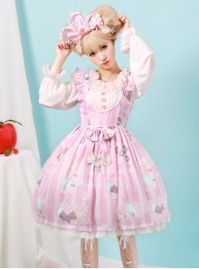 Rainbow Frosting Series JSK Chiffon Sweet Lolita Sling Dress