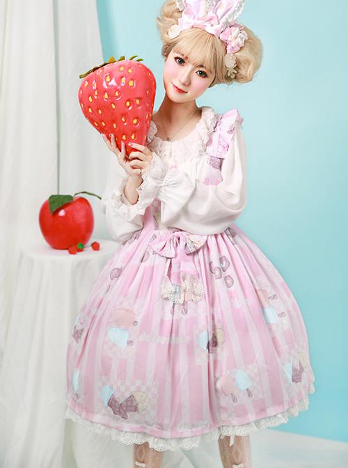 Rainbow Frosting Series JSK Chiffon Sweet Lolita Sling Dress