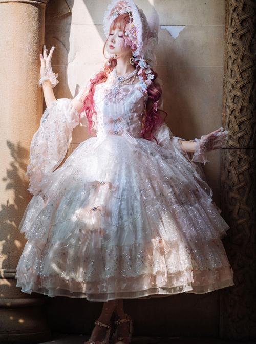 Cherry Blossom Girl Series Gorgeous Tea Party Classic Lolita Dress