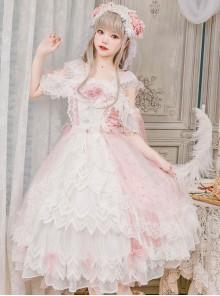 Crystalline Phantom Series Tea Party Sweet Lolita Pink Dress