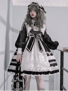 Lovely Elva Doll Series OP Sweet Lolita Long Sleeve Dress