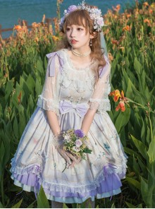 Flower Cage Museum Series JSK Sweet Lolita Sling Dress