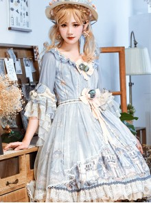 Goblin Overture Series OP Sweet Lolita Half Sleeve Dress