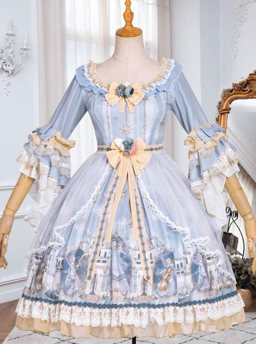 Goblin Overture Series OP Sweet Lolita Half Sleeve Dress