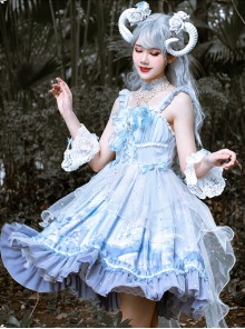 Walk With Whales Series JSK Sweet Lolita Sling Dress