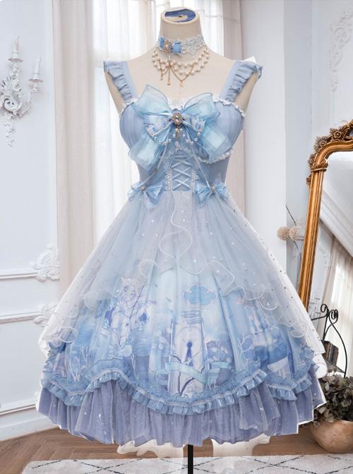 Walk With Whales Series JSK Sweet Lolita Sling Dress