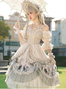 Rose Maiden Series OP Retro Palace Style Classic Lolita Dress