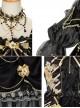Golden Lily Series JSK Retro Elegant Palace Style Gothic Lolita Black And Golden Sling Dress