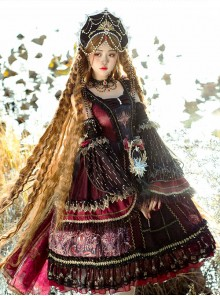 Eye Of Red Heart Series JSK Retro Palace Gothic Lolita Dress