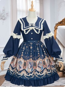 Explore The Stars Series OP Classic Lolita Long Sleeve Dress