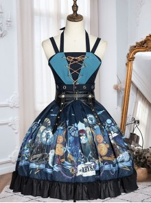 Abyss Series JSK Retro Classic Lolita Sling Dress With Cape Set