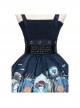 Abyss Series JSK Retro Classic Lolita Sling Dress With Cape Set