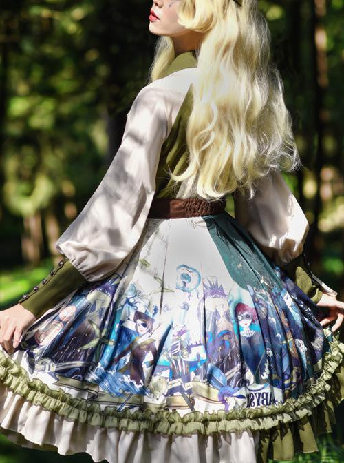Abyss Series OP Classic Lolita Long Sleeve Dress