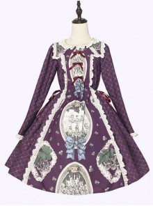 Grape Princess Series OP Elegant Classic Lolita Long Sleeve Dress