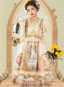 Flee Tulips Series OP Elegant Classic Lolita Long Sleeve Dress