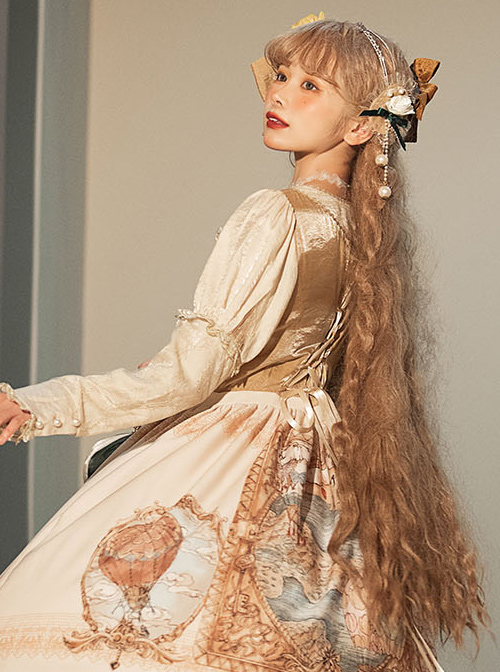 Flee Tulips Series OP Elegant Classic Lolita Long Sleeve Dress